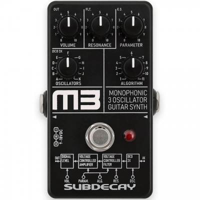 Subdecay 推出新款合成器模拟效果器-M3 Monophonic 3 Guitar Synth