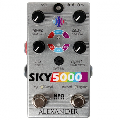 Alexander Sky 5000 Delay and Reverb 混响延时 2合1 单块效果器