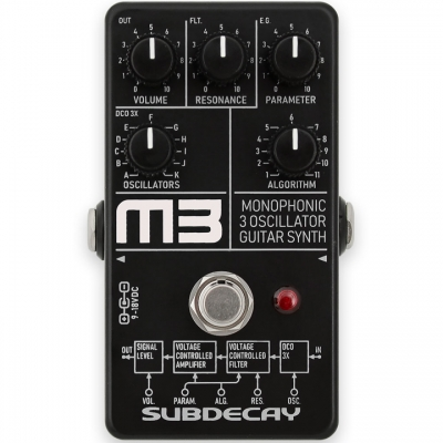Subdecay M3 Monophonic 3 Guitar Synth 合成器模拟 单块效果